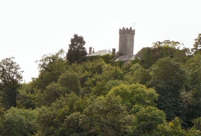 Penlline Castle, built on a high ridge