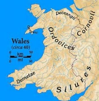 Map of Pre Roman Wales