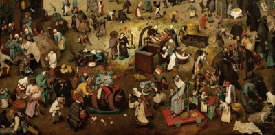 Depiction of a medieval fair