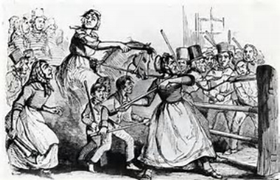 Depiction of the Rebecca Riots
