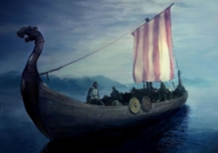 Depiction of a Viking ship
